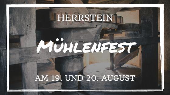 Mühlenfest am 19. und 20. August in Herrstein